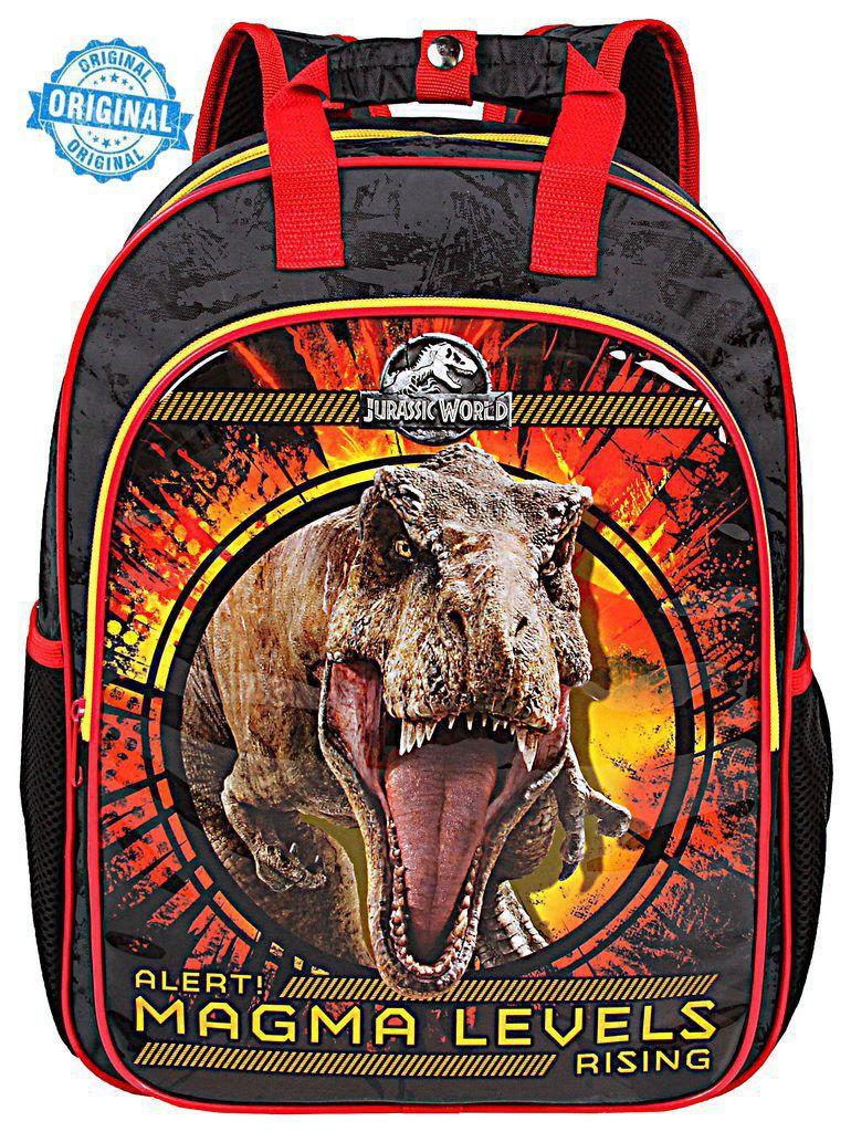 Mochila Escolar Infantil Jurassic World Costas Menino Dermiwil