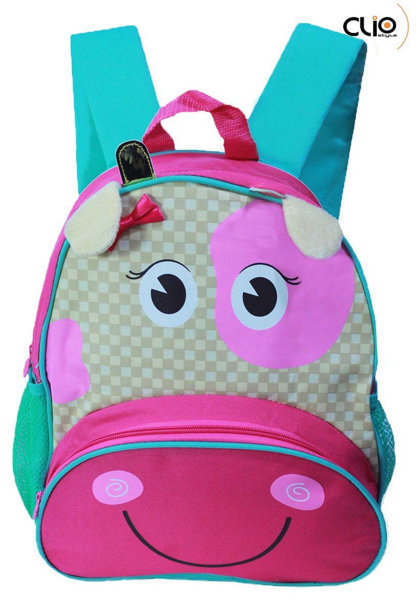 Mochila Escolar Infantil Zookids Impermeável Unicórnio Vaquinha Abelhinha Marrom Verde Rosa Costas Creche Lançamento Clio Original