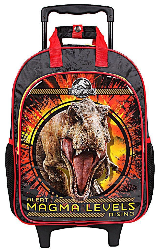Mochila Escolar Jurassic World Infantil Menino Rodinhas Dermiwil