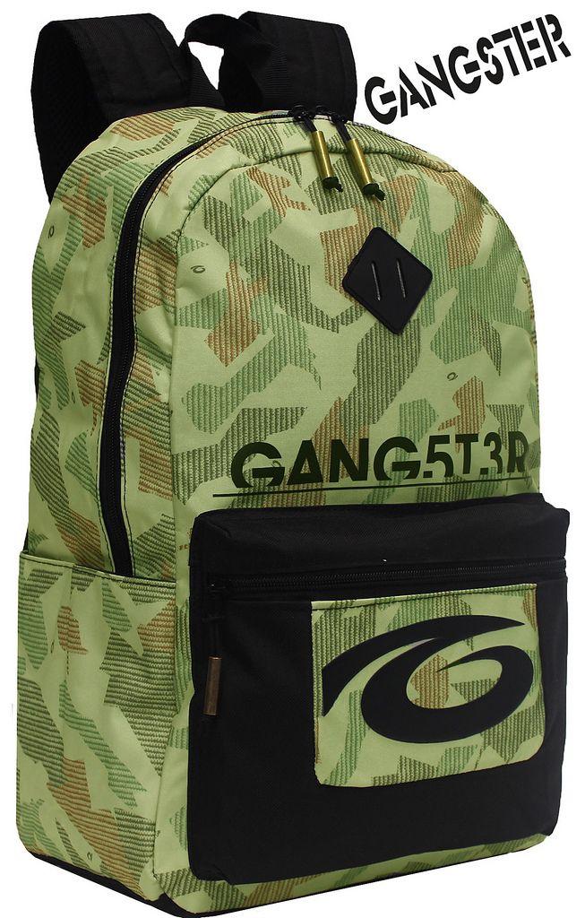 Mochila Escolar Masculina Camuflada Camping Juvenil Notebook 15.6 Impermeável Grande Resistente Verde Cinza Trabalho Gangster Original