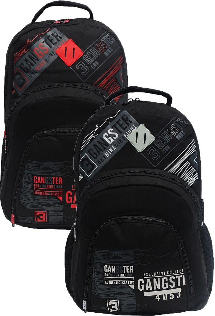 Mochila Escolar Notebook Masculina Clio Gangster Cinza Vermelha Resistente Impermeável Costas Lançamento Modelo GS8223 Original