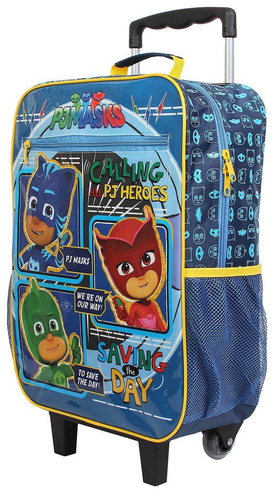 Mochila Escolar Pj Masks Com Rodinhas Infantil Azul Menino Dmw Original Volta As Aulas