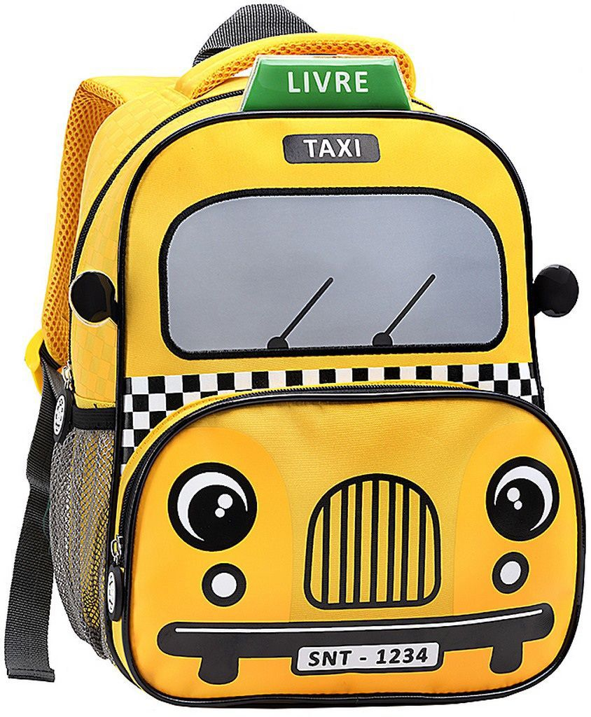6a4df35a82 Mochila Escolar Polícia Táxi Bombeiro Masculina Infantil Resistente Pequena  Menino Seanite