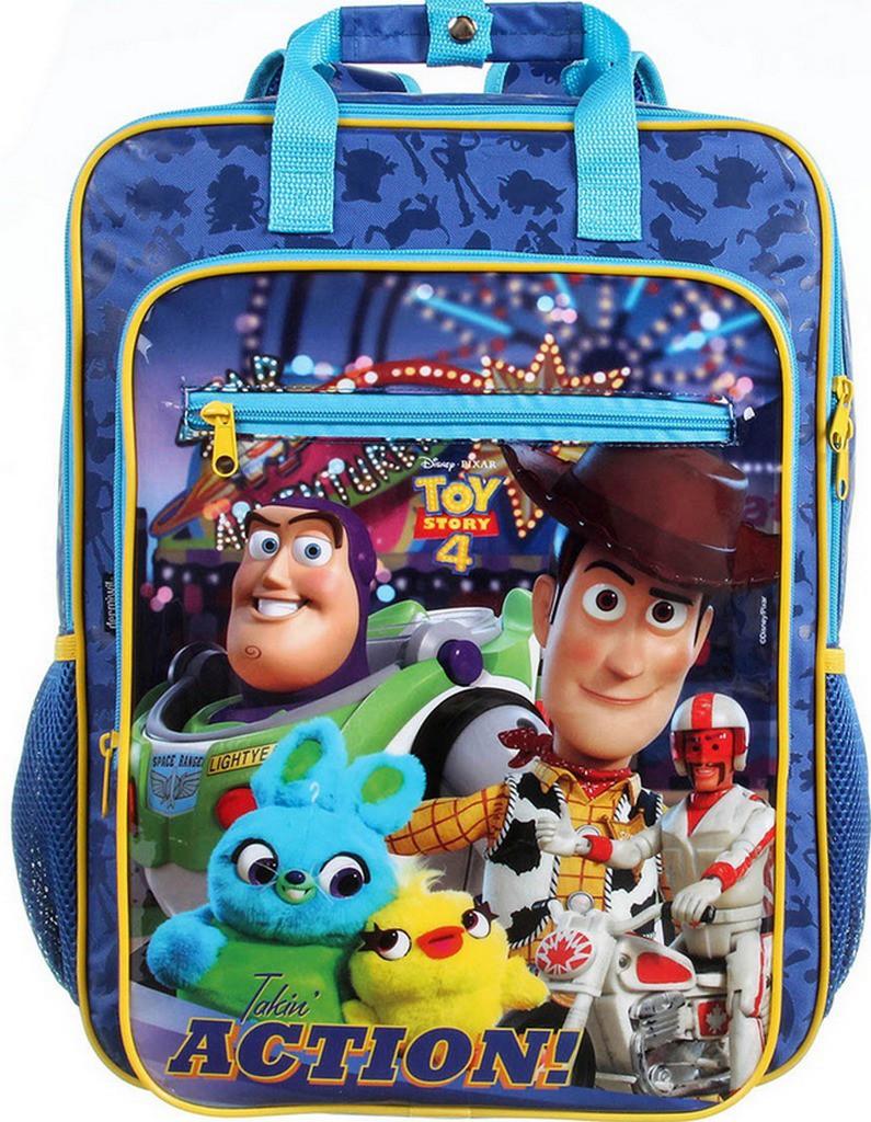 Mochila Escolar Toy Story Infantil Menino Grande Impermeável Alça De Costa Resistente Azul Volta Às Aulas Lançamento Dermiwil