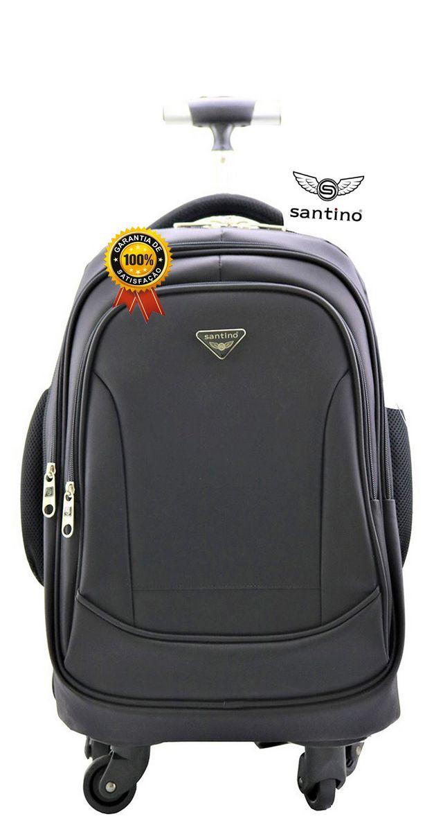Mochila Executiva Masculino Feminino Impermeável Notebook Tablet Grande Reforçada Resistente Zíper Personalizado Original Santino