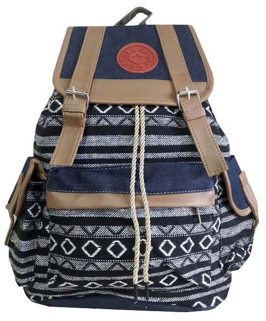 Bolsa Mochila Feminina Juvenil Lona Escolar Universitária : Mochila feminina lona juvenil bolsa escolar tecido r