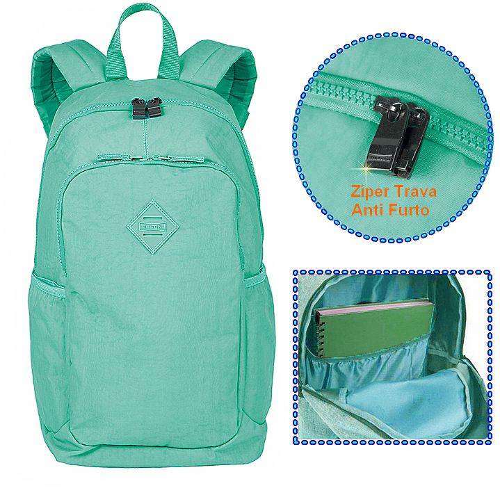 acff7d0fd Mochila Feminina Notebook Sestini Magic Turquesa Anti Furto Roubo Azul -  075487-80 - Ditudotem ...