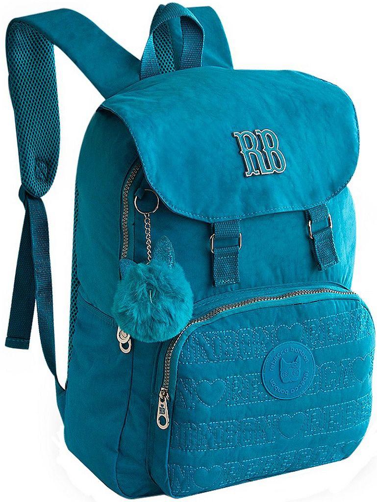 Mochila Feminina Rebecca Bonbon Notebook Impermeável Chaveiro Escolar Juvenil Costas Grande Azul Roxo Rosa Preta Resistente Original