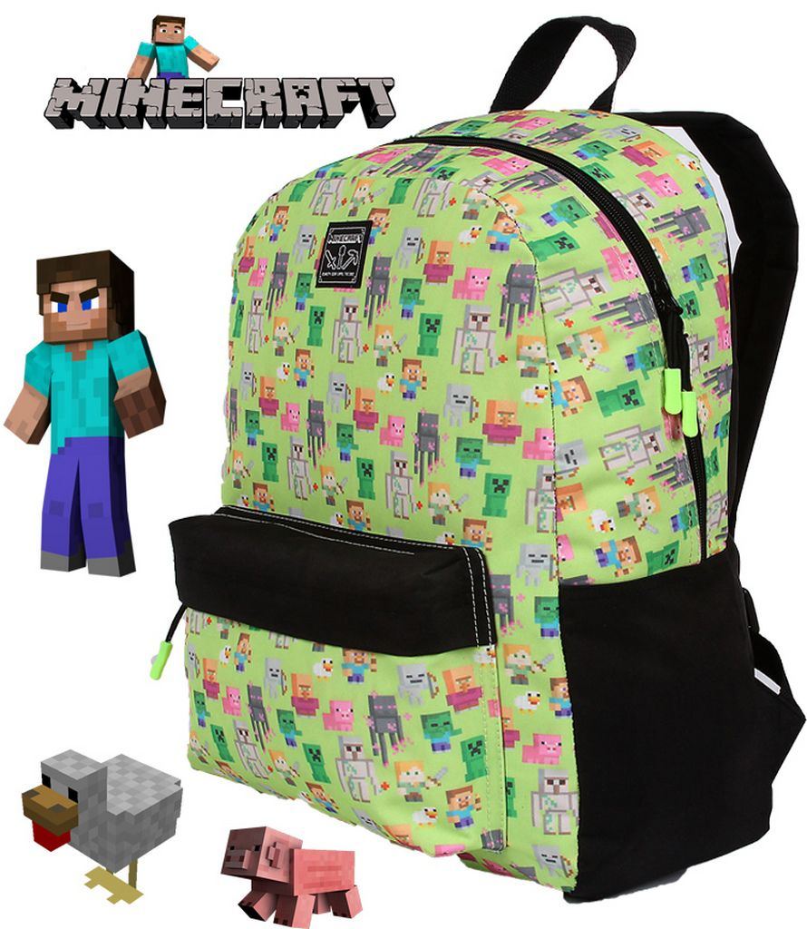 Mochila Escolar Infantil Meninos Minecraft Resistente DMW