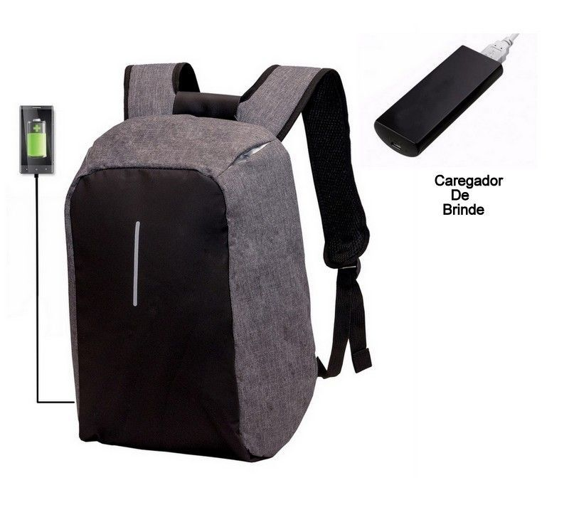 Mochila Impermeável Notebook Segurança Anti Furto Com Usb Com carregador