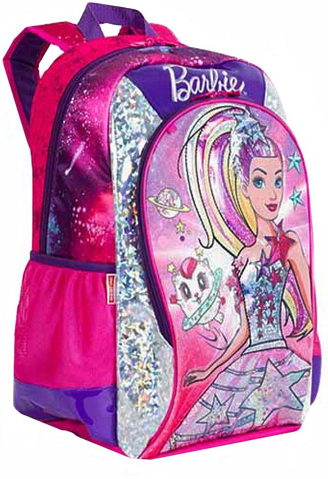 6b6dc3476 ... Mochila Infantil Escolar Menina Barbie Costas Brilho 3D Resistente  Costas Grande Original Sestine - Ditudotem ...
