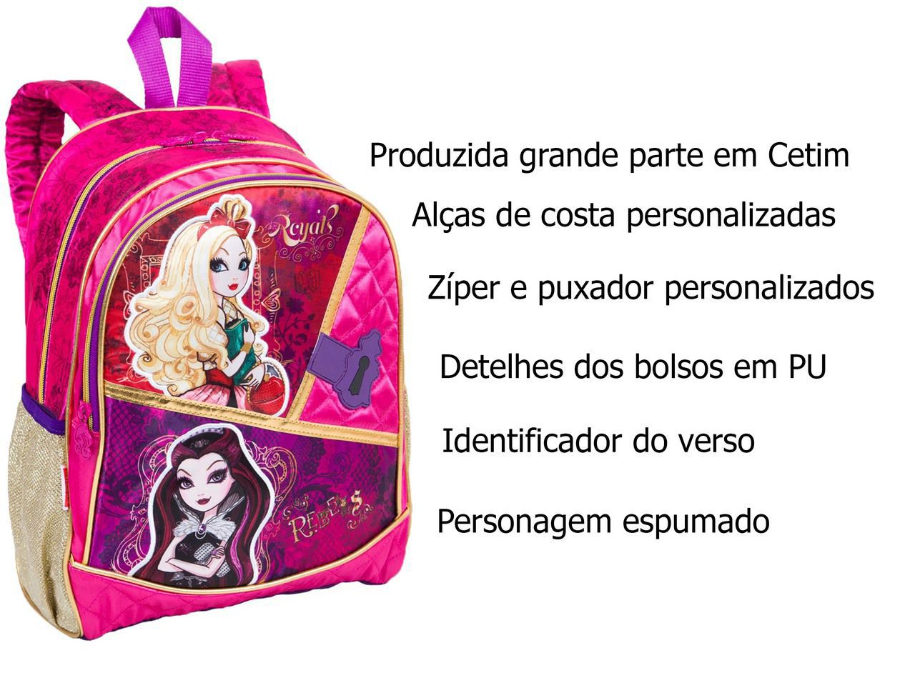 Mochila Infantil Menina Costas Escolar Ever After High Sestini