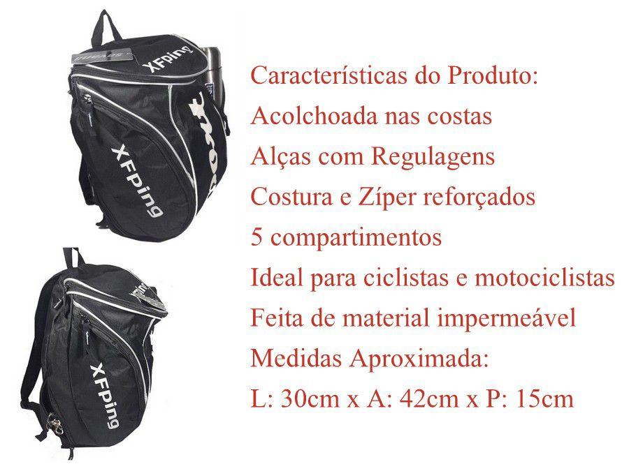 Mochila Sport Savana 18 L Com 5 Compartimentos Moto Ciclista