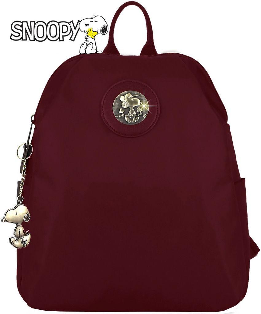 Mochilinha Feminina Snoopy Bolsa Costas Juvenil Pequena Impermeável Alça De Mão Chaveiro Escolar Social Resistente SP6802 Semax