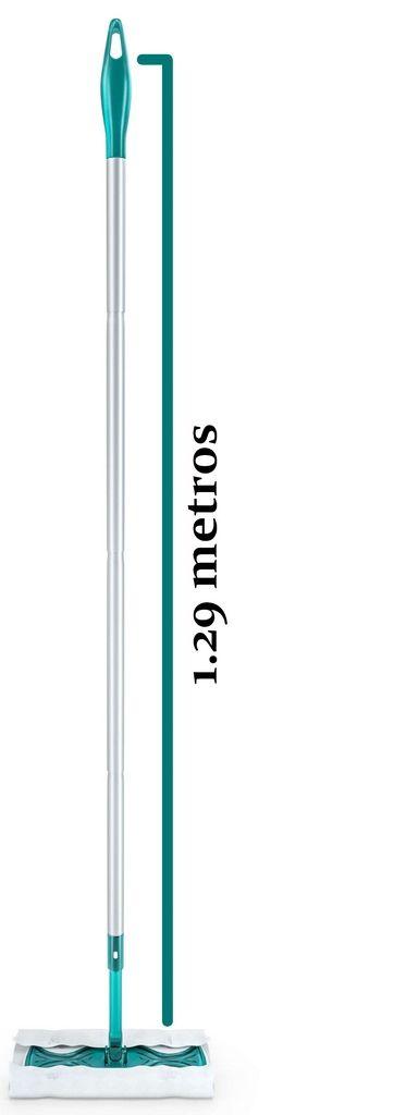 Mop Easy Floor Eletrostático Limpeza Rápida Prática Versátil 360° 5 Refis Microfibra Para Pisos Cerâmica Lâminados Flashlimp