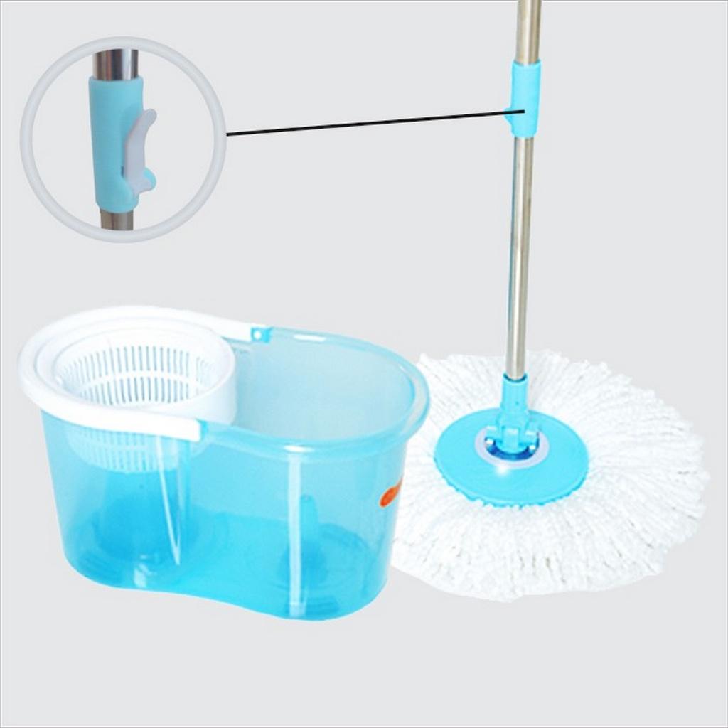 Mop Giratório Balde Esfregão 2 Refis Microfibra Limpeza Pesada Piso Pó Cesto Centrifugação 360° Multiuso Com Alça Perfect Urban