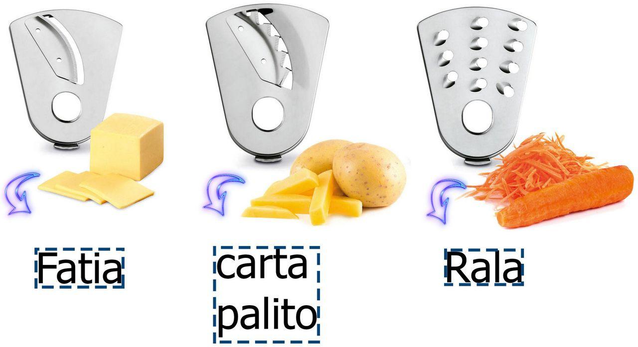 Multiprocessador Full Kitchen Premium 3 Em 1 Liquidificador Espremedor Elétrico Multifuncional Fatia Bate Pica Rala Aço Inox Preto 500 Watts 110v Nmp-08 Mondial Original