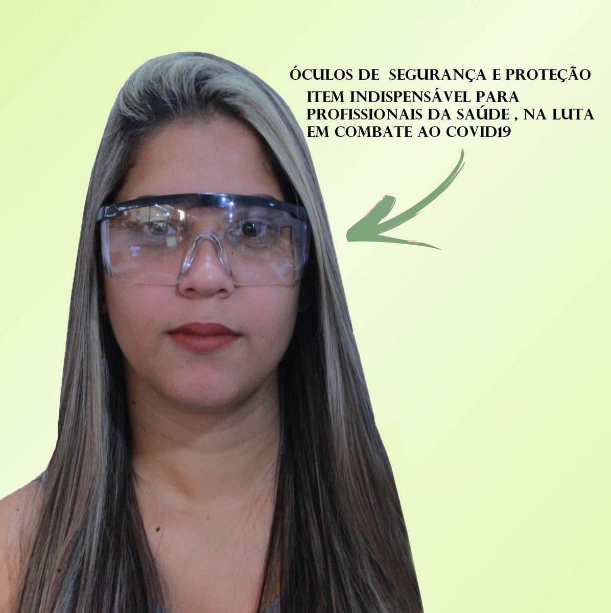 Oculos de Proteção Epi Individual Segurança Rj Incolor Lentes Filtram 99% Da Radiação Uva E Uvb  Regulagem Ajuste 4 Níveis Poli-Ferr
