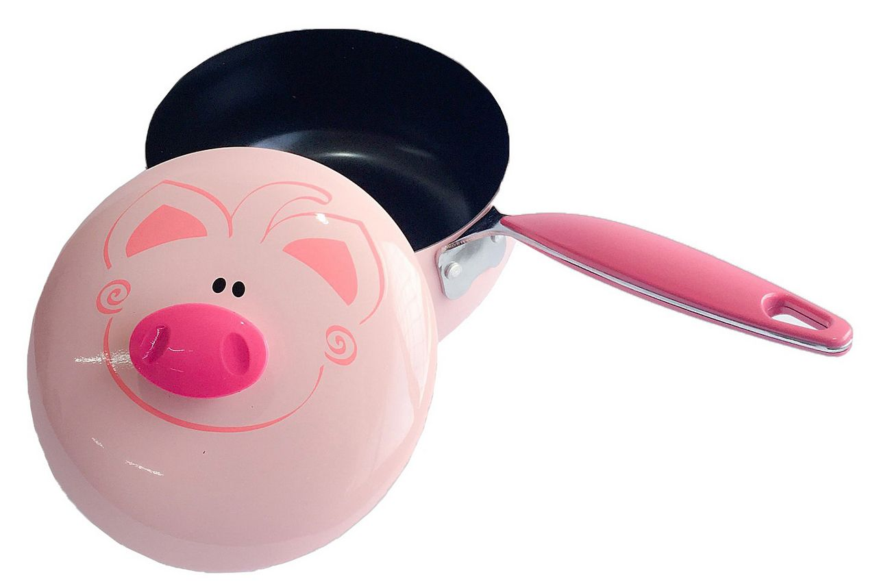 Panela Esmaltada Piggy 1,2 Litros 16 CM