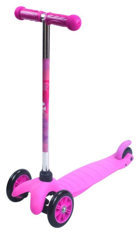 Patinete Infantil Sport Twist 3 Rodas Rosa Freio Estabilidade