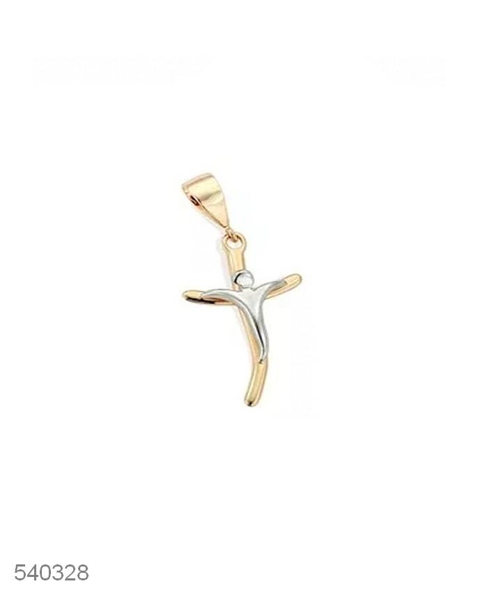 Pingente Cruz Cristo Estilizado Rommanel 3,4 cm 540328