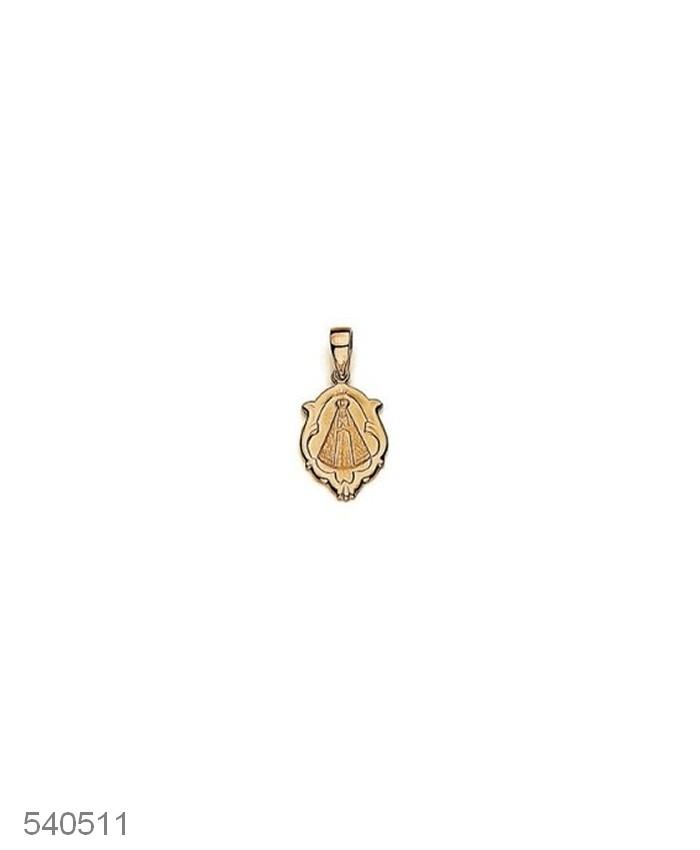 Pingente Nossa Senhora Folheado a Ouro 2,3 cm Rommanel 540511