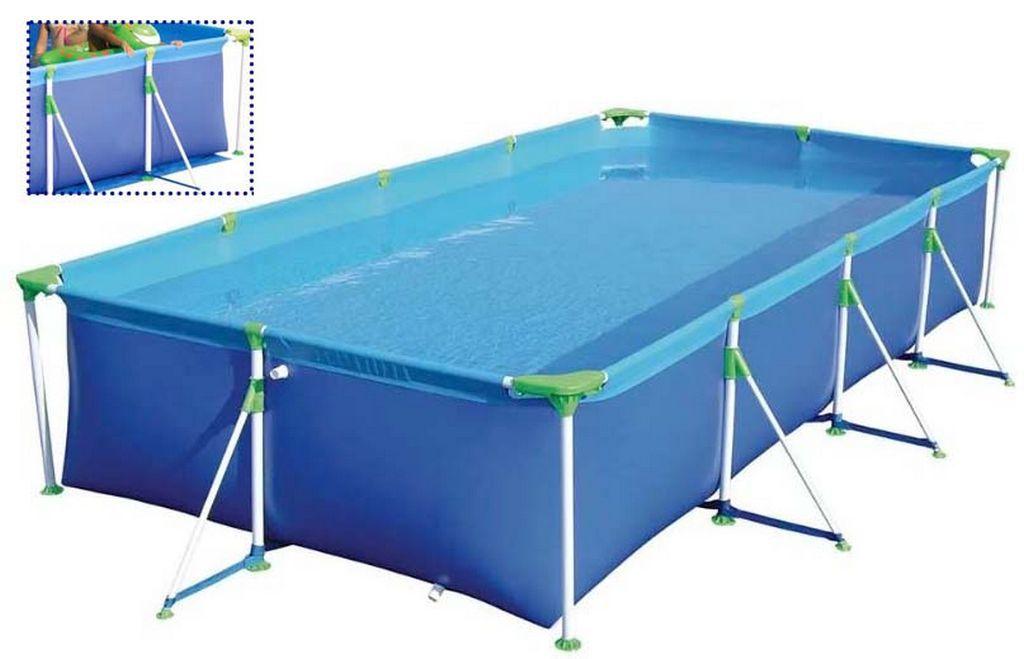 Piscina Retangular Premium Infantil Lazer Estruturada 5.000 Litros PVC MOR