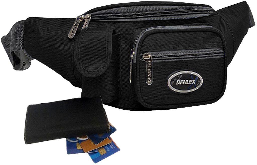 Pochete Bolsa Masculina Cintura Duratran Impermeável Grande Várias Divisórias Multiuso Motoboy Moderna Resistente Denlex
