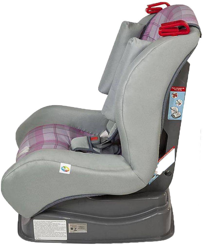 Cadeirinha Poltrona Infantil Atlantis Xadrez Rosa Reclinável 3 Posições 9Kg A 25Kg Tutti Baby Original