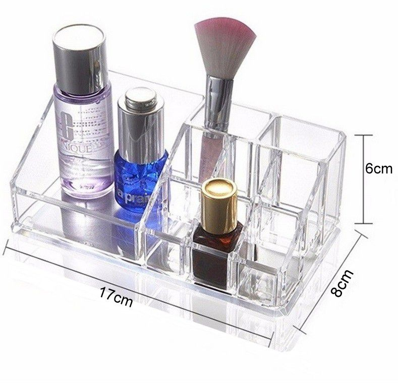 Porta Maquiagem Caixa Treco Em Acrílico Retangular