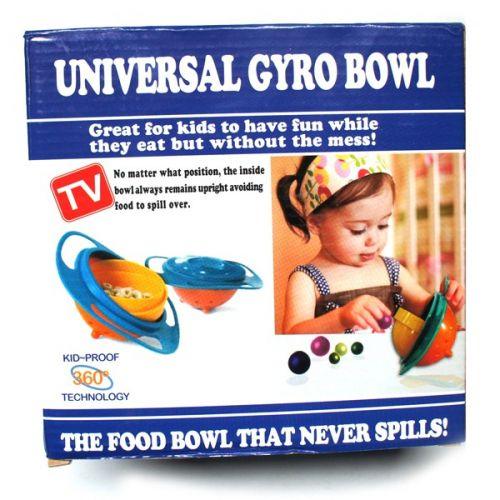 Prato Infantil Divertido! Universal Gyro Bowl 360º Tv