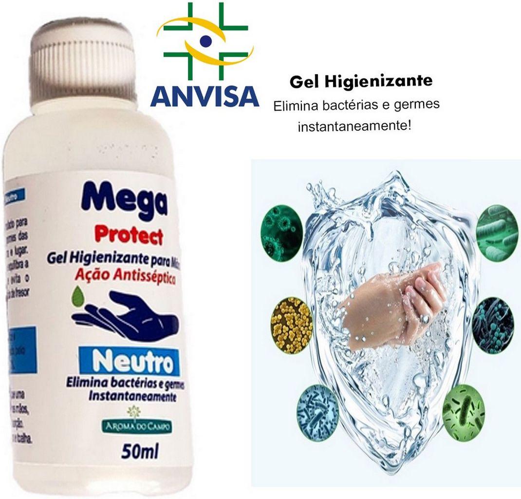 Pulverizador Borrifador 500ml Anatômico Manual Spray Transparente Higiene Limpeza + 2 Álcool em Gel 70% Bactericida Antisséptico Hidratante Mãos 50 Ml