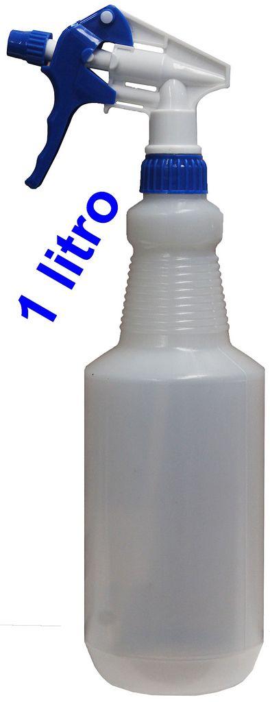 Pulverizador Borrifador Manual 1 Litro Gatilho Spray + Álcool Gel 70% Antisséptico 500Ml Bactericida Higienizador Prevenção