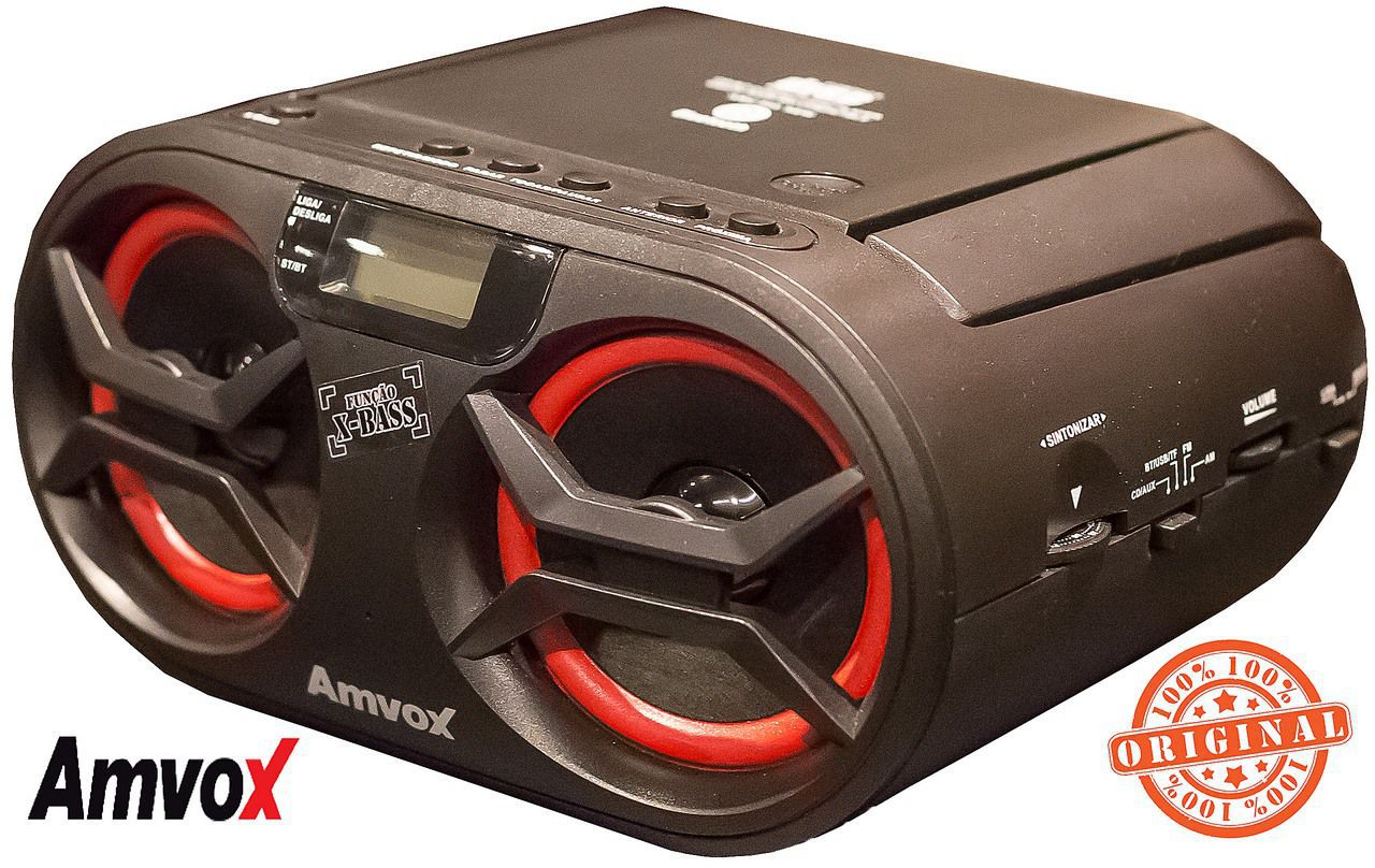 Rádio Bluetooth Bivolt Rádio Am Fm Usb Sd Aux Cd Player Portátil Original Amvox