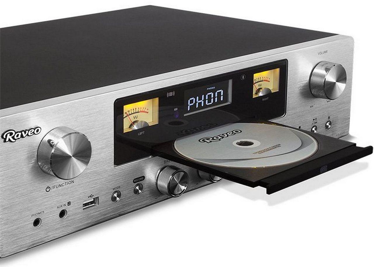 Receiver Raveo RR-1000 Cd Fm,Bluetooth E Usb Reproduz E Grava 80W RMS