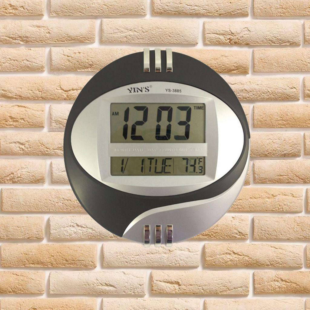ba810313eae ... Relógio Digital Redondo De Parede E Mesa Data Temperatura Calendário  Alarme - Ditudotem ...
