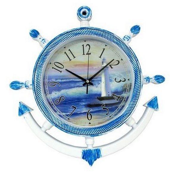 Relógio Parede Marinheiro Azul 36 Cm ALÉM MAR