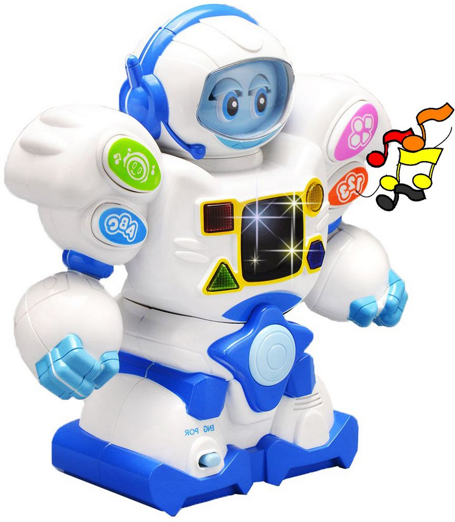 Robô Eletrônico Bilíngue Infantil Educativo Didático Painel Led Zoop Toys Estimulande Visual Modelo ZP00048