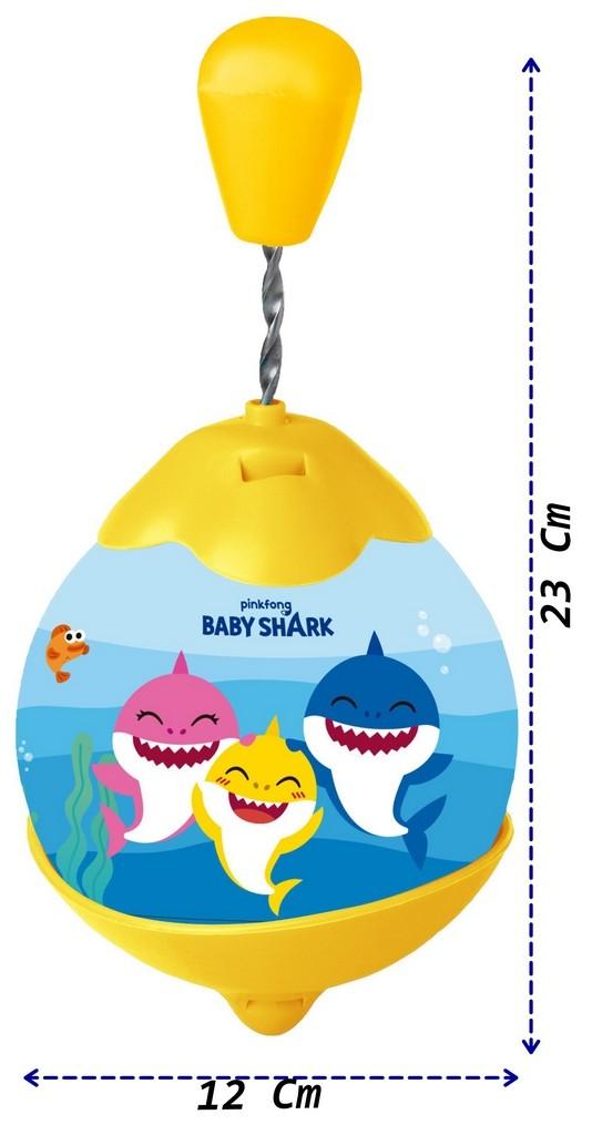 Roda Pião Baby Shark Divertido Infantil Bebês Bolhas De Sabão Gira Rápido Resistente Selo Inmetro Maior 4 Anos Elka
