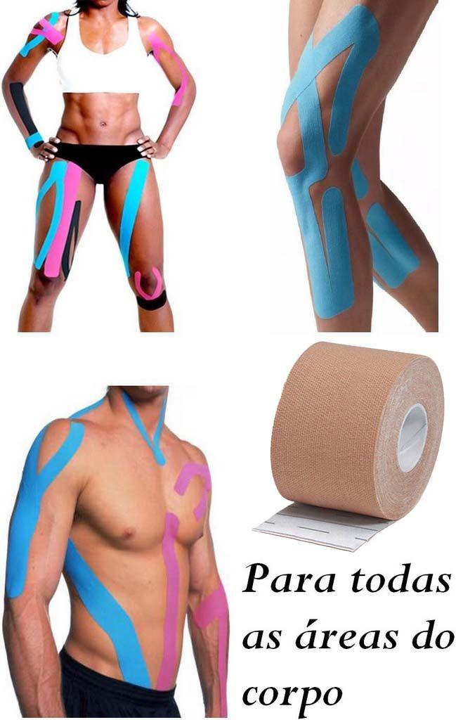 Rolo Fita Kinésio 5 x 500 Cm Tape Bandagem Elástica Funcional Adesiva Bege Musculação Evita Lesões Resistente A Água Muscle Fix Multilaser