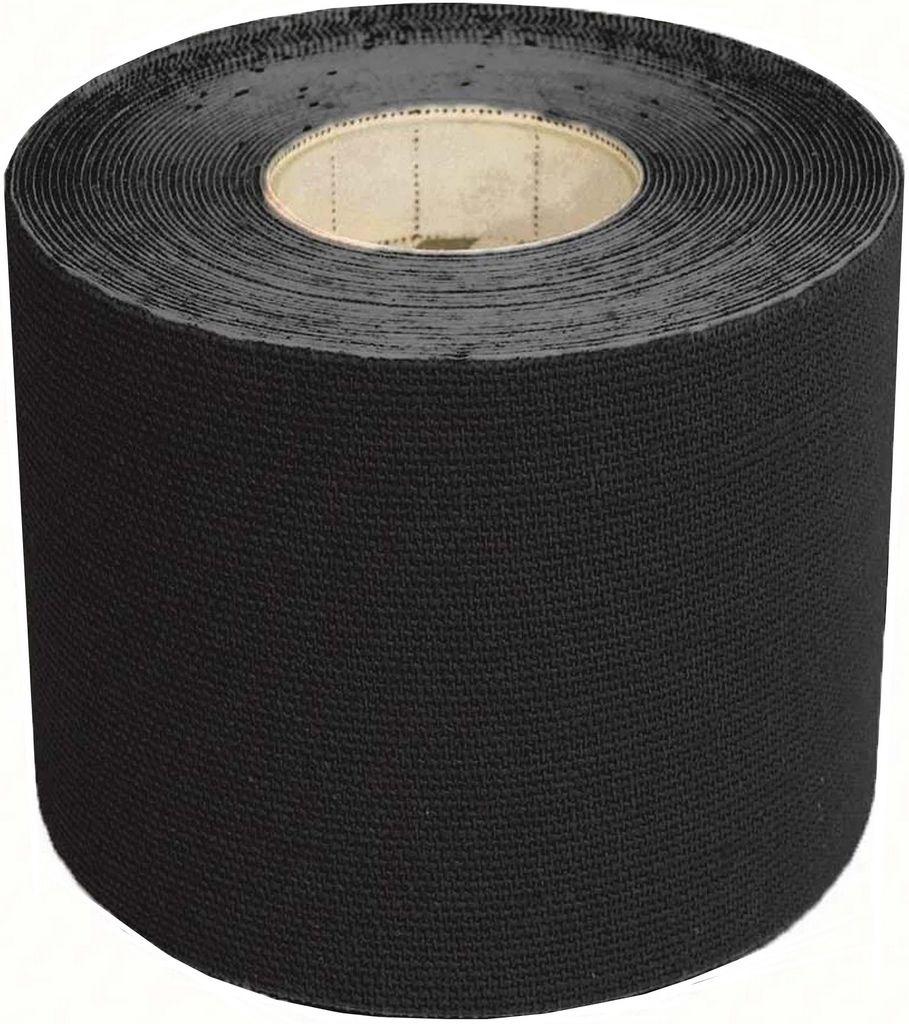 Rolo Fita Kinésio 5 x 500 Cm Tape Bandagem Elástica Funcional Adesiva Preta Musculação Evita Lesões Resistente A Água Muscle Fix Multilaser