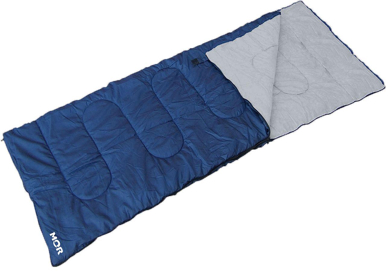 Saco De Dormir Envelope 75x220 Cm Extensão Solteiro Camping Compacto Acampar Azul Mor