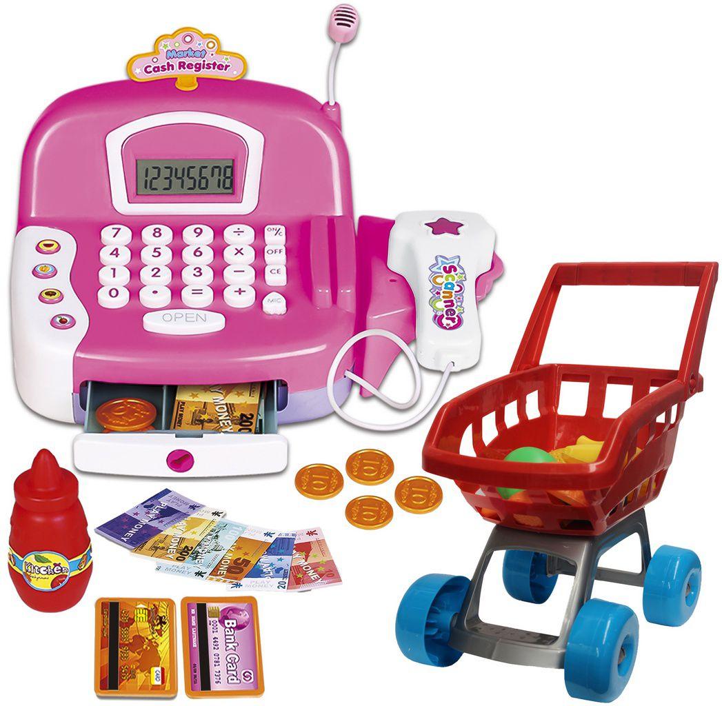 Super Caixa Registradora Brinquedo Infantil Eletrônico Princesas Mágicas Carrinho Menina Som Luz Música Mercadinho Comidinhas Dinheiro Cartão Moedas Zoop Toys Original
