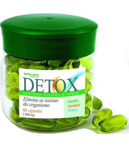 Kit 2 Potes Suplemento Detox - 120 Cápsulas - Abelha Rainha
