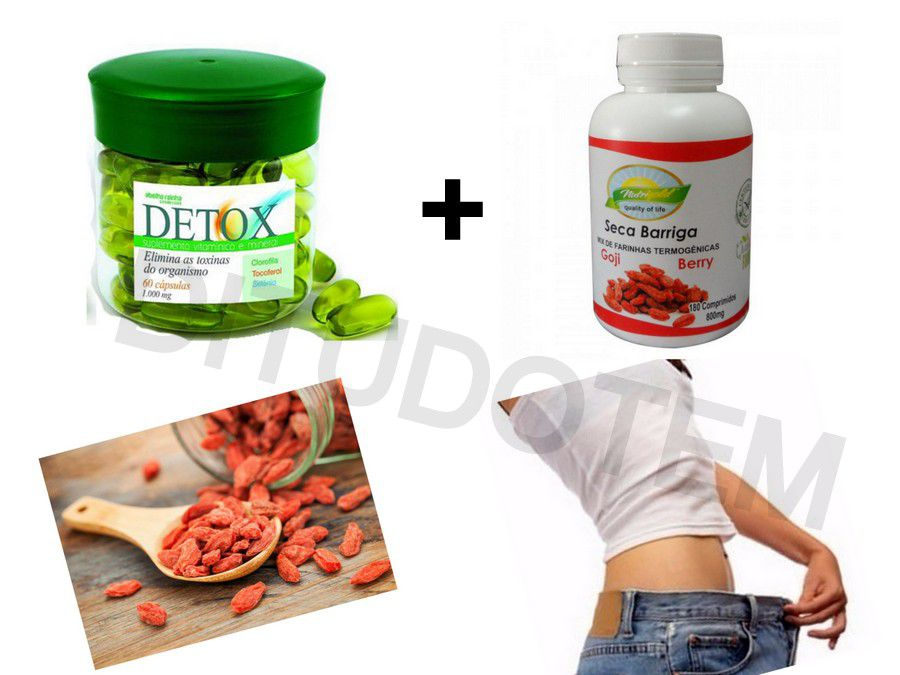 Suplemento Detox e Goji Berry Seca Barriga - Abelha Rainha