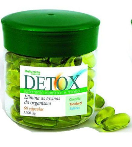 Suplementos Detox 60 Cápsulas -  Abelha Rainha