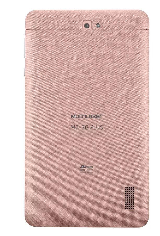 Tablet Multilaser M7 3G Plus Quad Core 1GB RAM Camera Tela 7 Memoria 8GB Dual Chip Rosa - NB271-Original