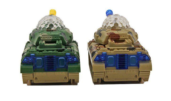Tanque De Guerra Armored Car Emite Som E Luz Bate E Volta - Brinquedo