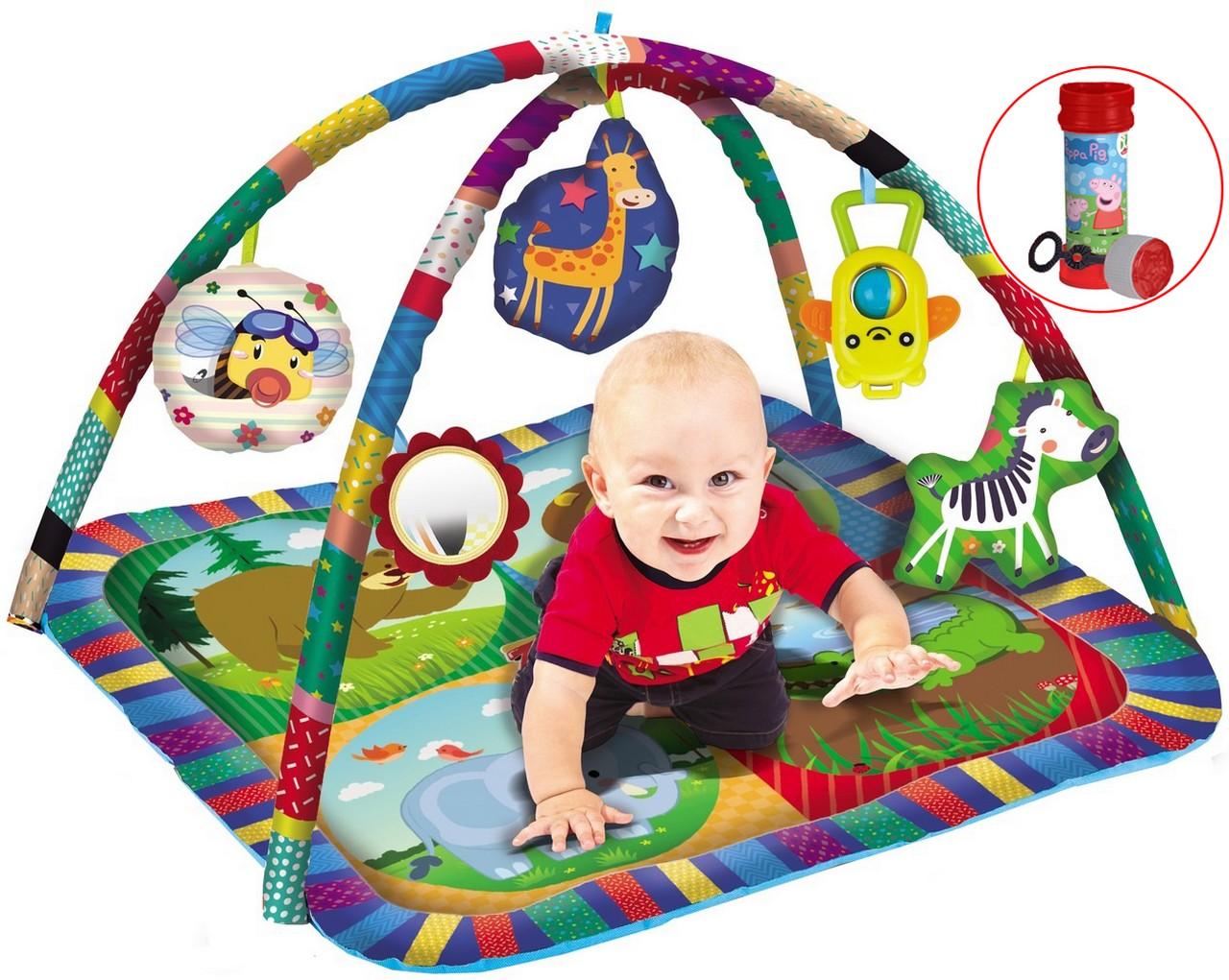 Tapete Centro de Atividades Infantil Menino Menina Bolhas De Sabão  Desenvolve Coordenação Motora Modelo ZP00179 Zoop Toys