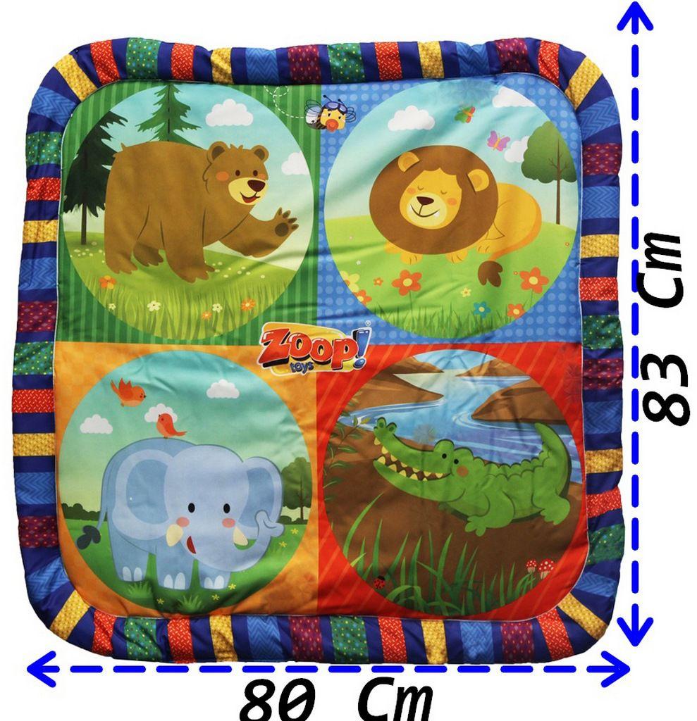 Tapete Centro de Atividades Infantil Menino Menina Desenvolve Coordenação Motora Modelo ZP00179 Original Zoop Toys